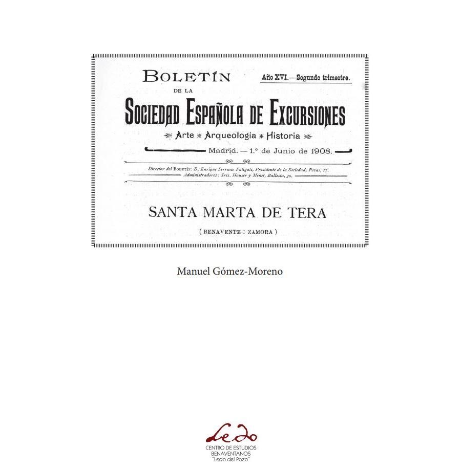 Boletín de la Sociedad Españolas de Excursiones. Santa Marta de Tera (Benavente – Zamora).