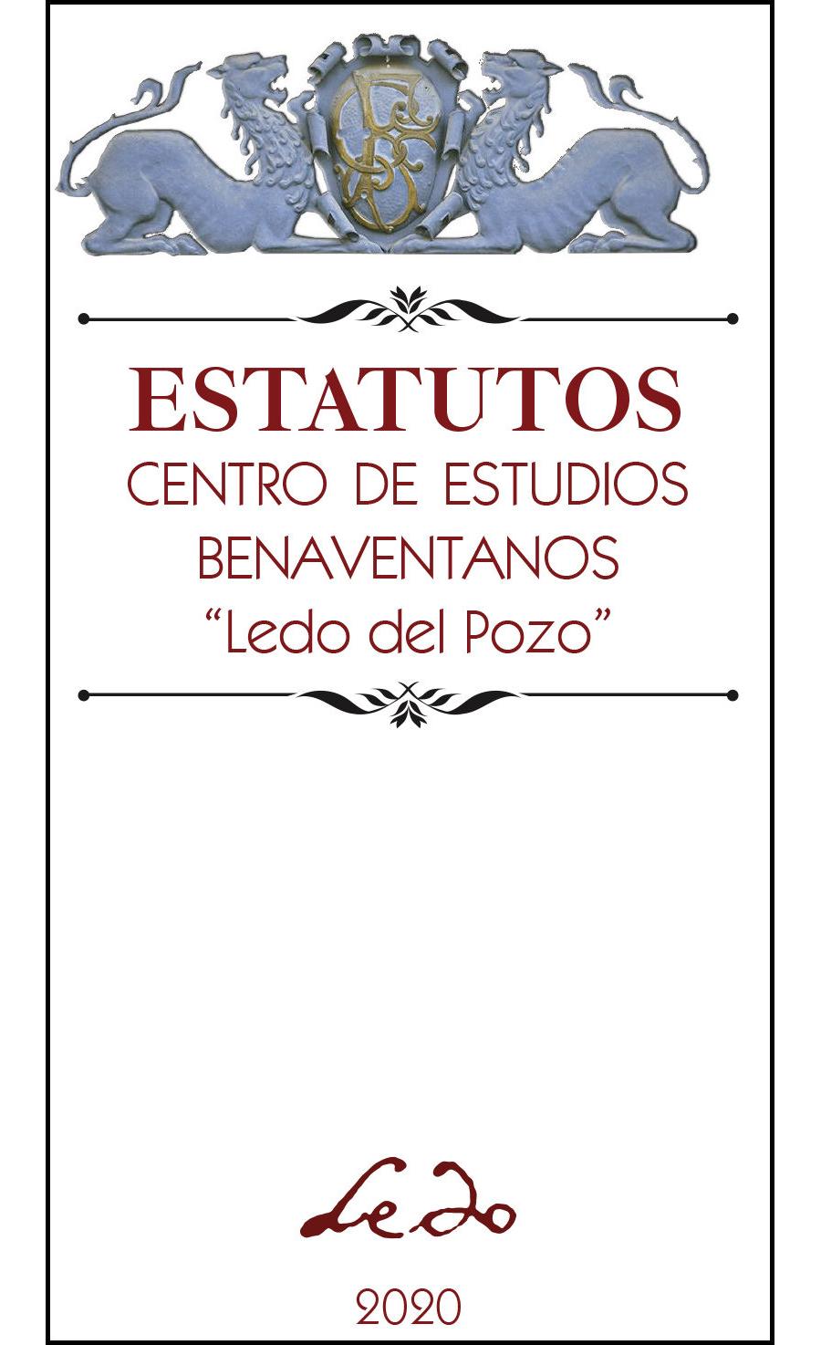 """Estatutos del CEB """"Ledo del Pozo"""" 2020, 44pp."""