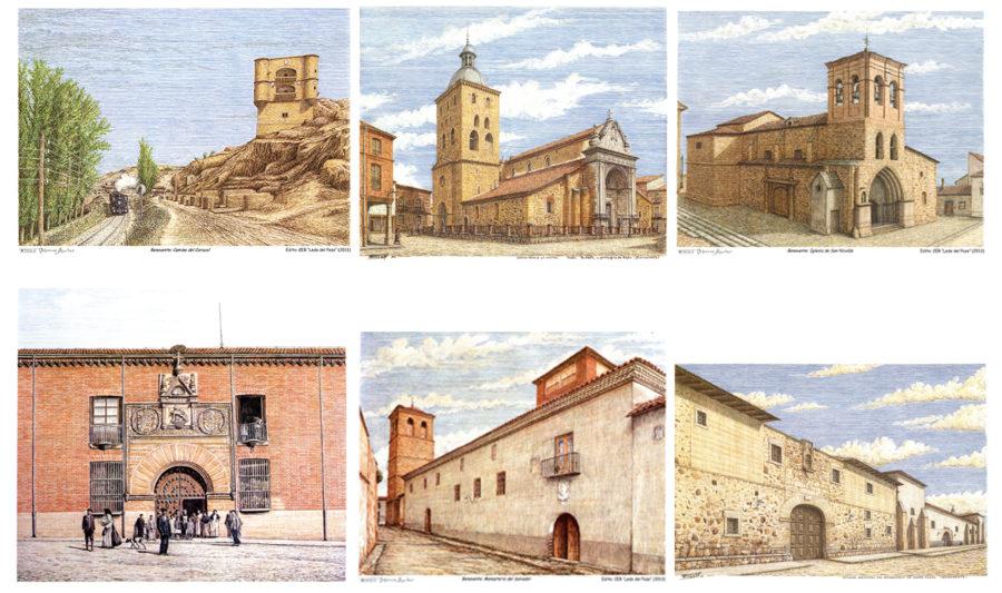 6 manteles con imágenes de Benavente. Tomás Viforcos.